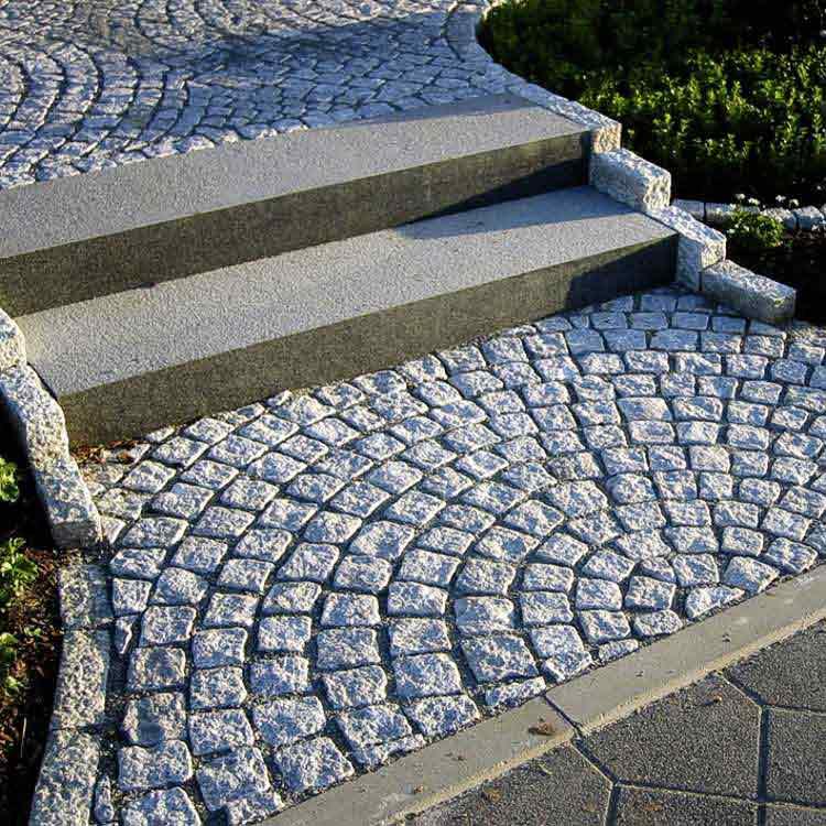 Garten randstein randsteine granit rasen randsteine granit bordsteine verlegen potsdam berlin - Gartengestaltung mit granitsteinen ...