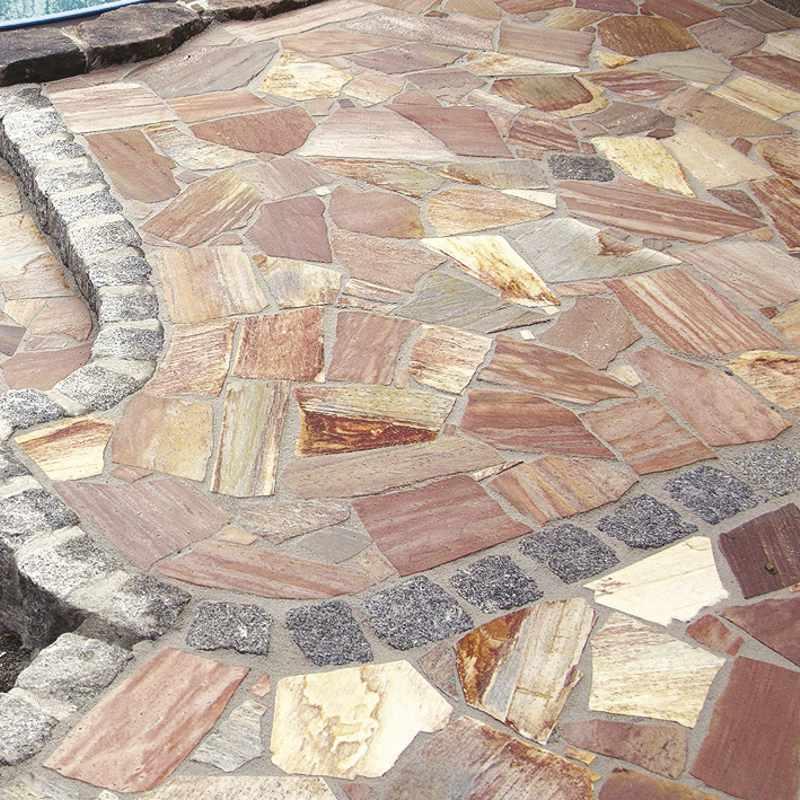 Natursteinplatten polygonal